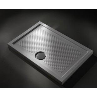 Globo Ceramica Duschwannen GLOBO CERAMICA Docciaviva 80X80 Aufsatz Oder Bodenbündige Montage DV080.BI