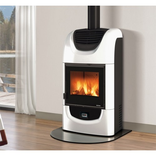 La Nordica Extraflame Holzöfen Kaminofen LA NORDICA WANDA EVO 8,5 kW Kanalisierter Ofen mit Keramikverkleidung 7117003