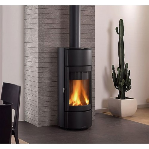 La Nordica Extraflame Holzöfen Kaminofen LA NORDICA FORTUNA STEEL 7 kW Runder mit Stahlverkleidung 7116854