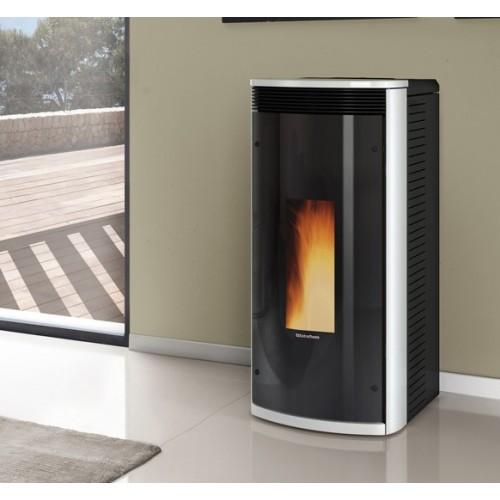 Pelletsöfen Extraflame La Nordica SIBILLA PLUS 9.3 kW kanalisierter mit lackierter Stahlverkleidung und Keramiktop *