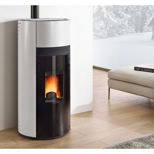 Pelletsöfen Extraflame La Nordica DOROTY 9 kW Runder , belüftet mit lackierterStahlverkleidung