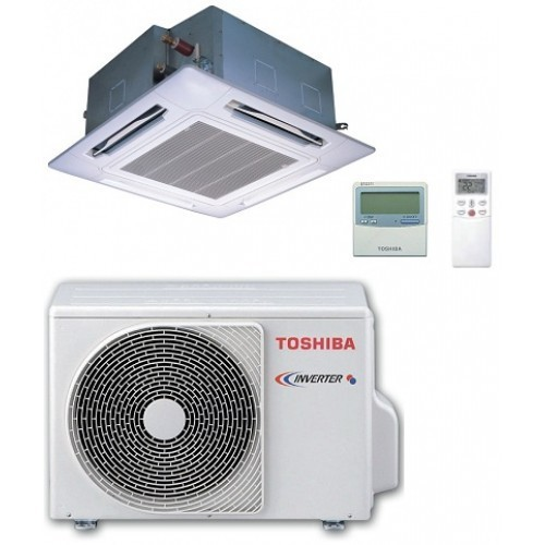 Toshiba Gewerbeklimaanlagen 37000 BTU Kassettengerät RAV-SM1104UTP-E+RAV-SP1104AT-E1 4-Wege-Kassette Super 11.0 KW Wärmepumpe...