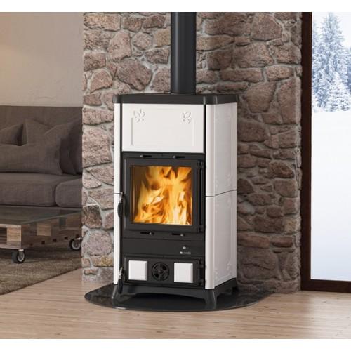 La Nordica Extraflame Holzöfen Kaminofen LA NORDICA FEDORA 8,3 kW mit Keramikverkleidung 7112700
