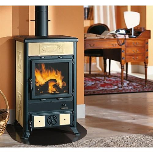 La Nordica Extraflame Holzöfen Kaminofen LA NORDICA ROSSELLA R1 BII 8,8 kW mit Keramik oder Natursteinverkleidung 7112150