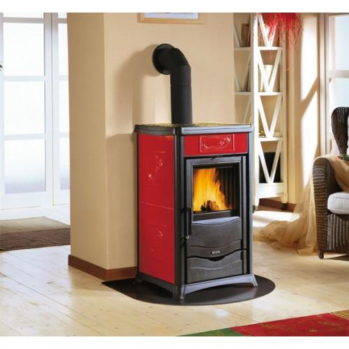 La Nordica Extraflame Holzöfen Kaminofen LA NORDICA ROSSELLA PLUS 8 kW mit Keramik oder Natursteinverkleidung 7112260