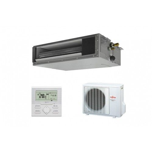 Fujitsu General Gewerbeklimaanlagen Fujitsu 18000 BTU Kanaleinbaugeräte ARYG18LSLAP Mini Kanalgerät 5.0 KW inverter Wärmepump...