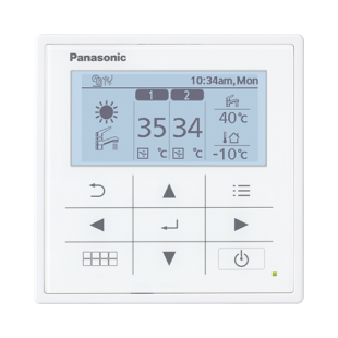 Panasonic Wärmepumpe Acquarea Luft-Wasser T-CAP SUPER QUIET KIT-WQC09H3E8 9 KW 380V / 3 PH sehr niedrige Temperaturen KIT-WQC...
