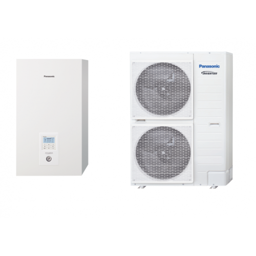 Panasonic Wärmepumpe Acquarea Luft-Wasser T-CAP SUPER QUIET KIT-WQC12H9E8 12 KW 380V / 3 PH sehr niedrige Temperaturen KIT-WQ...