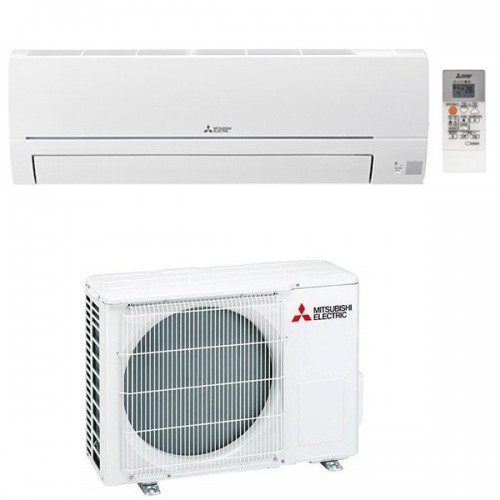 Mitsubishi Electric Klimaanlagen Mono Split R32 18000 BTU Serie Smart MSZ-HR50VF+MUZ-HR50VF weiss 5,0 KW inverter Wärmepumpe ...