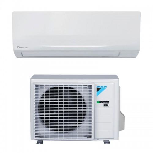 Daikin Klimaanlagen Mono Split R32 9000 BTU FTXF25A+RXF25A weiß 2,5 KW serie Sensira FTXF-A inverter Wärmepumpe