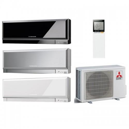 Mitsubishi Electric Klimaanlagen Mono Split R32 12000 BTU Kirigamine ZEN MSZ-EF35VG+MUZ-EF35VG weiss silber schwarz 3,5 KW