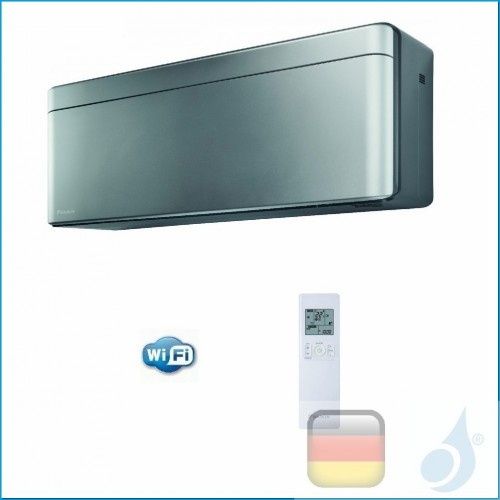 Daikin Inneneinheit CTXA15AS Wand Gas R-32 Serie Stylish FTXA-A Colore Silbernen 5000 Btu WiFi CTXA15AS