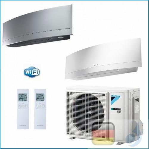 Daikin Klimaanlagen Duo Split R-32 Emura FTXJ-MS+MW 9000+12000 Btu WiFi FTXJ25MS +FTXJ35MW + 2MXM40M A+++/A++ FTXJ25MS+FTXJ35...