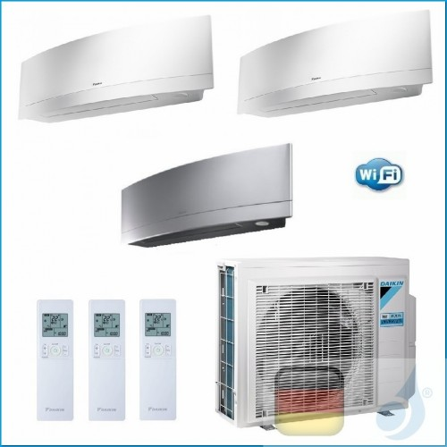 Daikin Klimaanlagen Trio Split R-32 Emura FTXJ-MS+MW  Btu WiFi FTXJ20MW +FTXJ20MW +FTXJ35MS 3MXM52N A+++/A++ 2xFTXJ20MW+FTXJ3...
