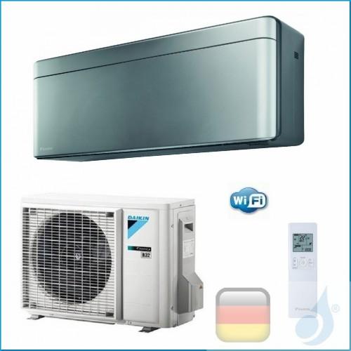 Daikin Klimaanlagen Mono Split Wand Gas R-32 Serie Stylish Silbernen 12000 Btu WiFi FTXA35AS RXA35A A+++/A+++ FTXA35AS+RXA35A