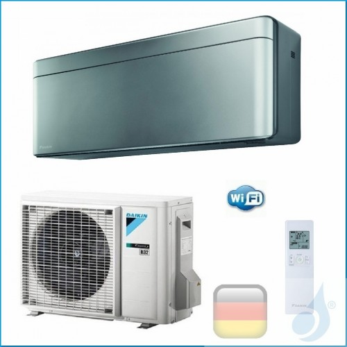 Daikin Klimaanlagen Mono Split Wand Gas R-32 Serie Stylish Silbernen 15000 Btu WiFi FTXA42AS RXA42A A++/A++ FTXA42AS+RXA42A