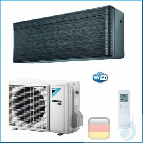 Daikin Klimaanlagen Mono Split Wand Gas R-32 Serie Stylish Blackwood 15000 Btu WiFi FTXA42AT RXA42A A++/A++ FTXA42AT+RXA42A