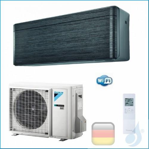Daikin Klimaanlagen Mono Split Wand Gas R-32 Serie Stylish Blackwood 18000 Btu WiFi FTXA50AT RXA50A A++/A++ FTXA50AT+RXA50A