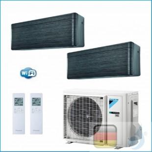Daikin Klimaanlagen Duo Split Wand R-32 Serie Stylish Blackwood 12000+18000 Btu WiFi FTXA35AT FTXA50AT 2MXM50M/M9 A+++/A++ FT...
