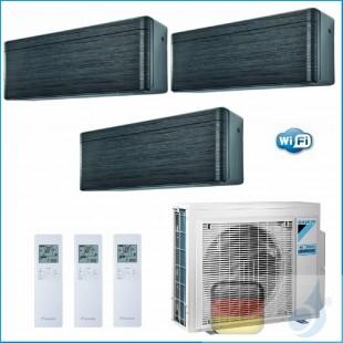 Daikin Klimaanlagen Trio Split Wand R-32 Stylish Blackwood 9+12+18 Btu WiFi FTXA25AT +FTXA35AT +FTXA50AT 3MXM68N A++/A+ A25AT...