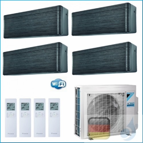 Daikin Klimaanlagen Quadri Split R-32 Stylish Blackwood 9+9+9+12 WiFi FTXA25AT FTXA25AT FTXA25AT FTXA35AT 4MXM80N A++/A++ 3xF...