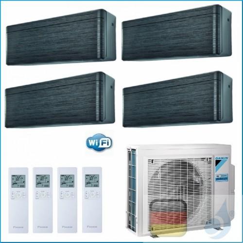 Daikin Klimaanlagen Quadri Split R-32 Stylish Blackwood 9+9+9+9 WiFi FTXA25AT FTXA25AT FTXA25AT FTXA25AT 4MXM80N A++/A++ 4xFT...
