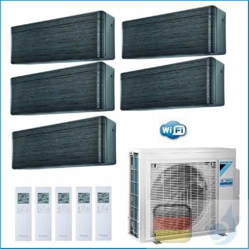 Daikin Klimaanlagen Penta Split Wand R-32 Stylish Blackwood 9+9+9+12+12 Btu WiFi FTXA25AT +FTXA25AT 5MXM90N A++/A++ 3xFTXA25A...