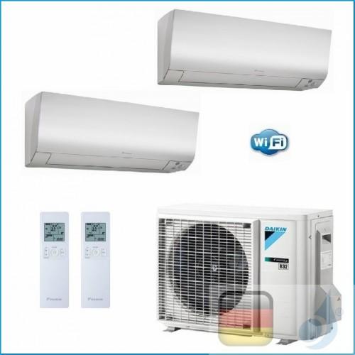 Daikin Klimaanlagen Duo Split R-32 Perfera FTXM-N 9000+15000 Btu WiFi FTXM25N +FTXM42N +2MXM50M9 A+++/A++ FTXM25N+FTXM42N+2MX...