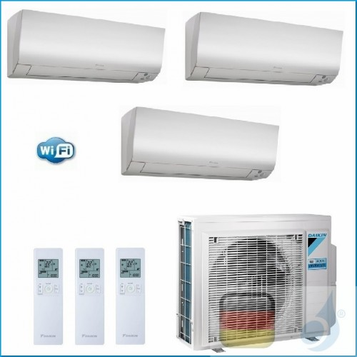 Daikin Klimaanlagen Trio Split Gas R-32 Perfera FTXM-N 7+7+18 Btu WiFi 2X FTXM20N + FTXM50N 3MXM52N A++/A++ FTXM20N+FTXM20N+F...