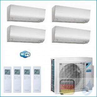 Daikin Klimaanlagen Quadri Split R-32 Perfera FTXM-N 12+12+12+12 WiFi 4 X FTXM35N 4MXM80N A++/A++ 4xFTXM35N+4MXM80N