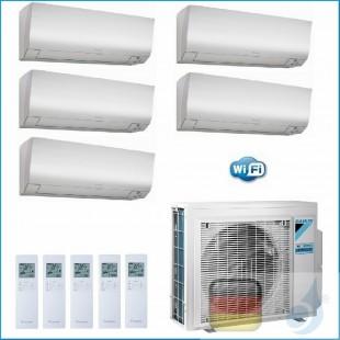 Daikin Klimaanlagen Penta Split Wand R-32 Perfera FTXM-N 9+9+9+12+12 Btu WiFi Ready 3x FTXM25N +2x FTXM35N 5MXM90N A++/A++ 3x...