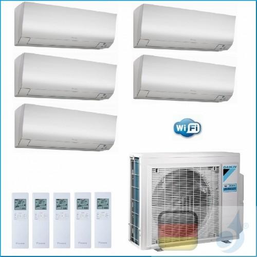 Daikin Klimaanlagen Penta Split Wand R-32 Perfera FTXM-N 7+7+7+7+12 Btu WiFi Ready 4x FTXM20N +FTXM35N 5MXM90N A++/A+ 4xFTXM2...