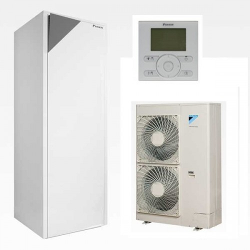 Wärmepumpe Daikin Altherma Luft-Wasser ERLQ014CV3 + EHVX16S26CB9W 14.0 kW 230V