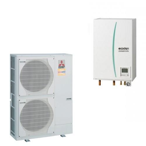 Mitsubishi Electric Wärmepumpe Ecodan Luft-Wasser PUHZ-SW120YHA + EHSC-VM2C 12.0 kW