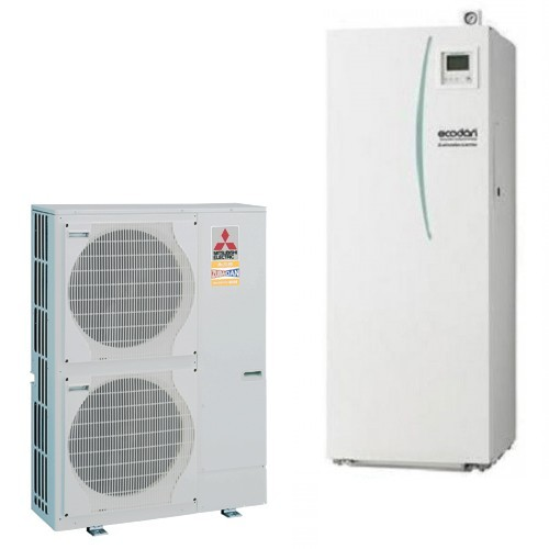 Mitsubishi Electric Wärmepumpe Ecodan Luft-Wasser PUHZ-SW100VHA + EHST20C-VM2C 10.0 kW