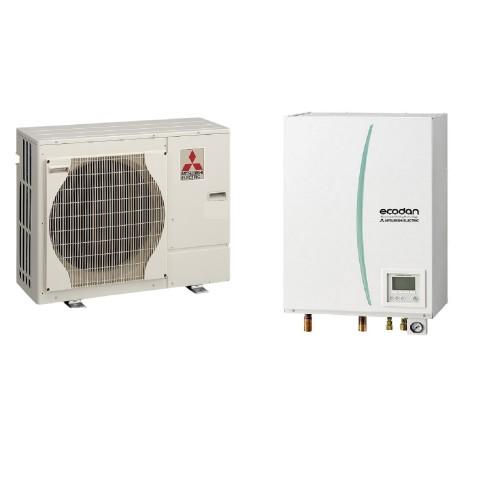 Wärmepumpe Mitsubishi Ecodan Luft-Wasser PUHZ-SW40VHA + EHSD-VM2C 4.0 kW