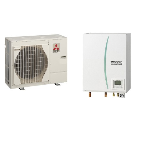 Mitsubishi Electric Wärmepumpe Ecodan Luft-Wasser PUHZ-SW50VHA + ERSD-VM2C 5.0 kW