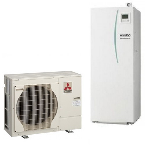 Mitsubishi Electric Wärmepumpe Ecodan Luft-Wasser PUHZ-SW40VHA + EHST20D-VM2C 4.0 kW