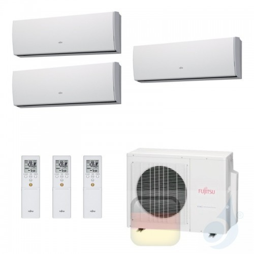 Fujitsu Klimaanlagen Trio Split 12000+12000+12000 Btu ASYG12LMCE+ ASYG12LMCE+ ASYG12LMCE+ AOYG24LAT3 12+12+12 3.5+3.5+3.5 kW ...