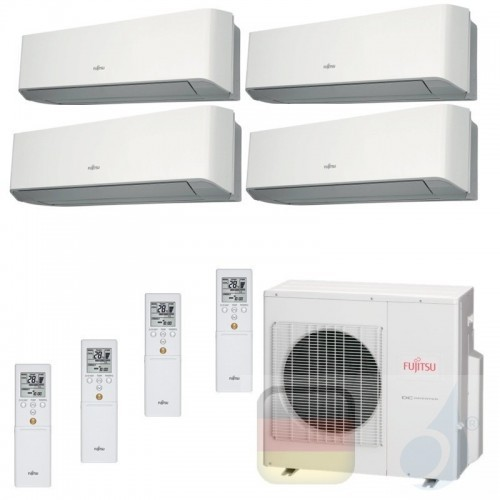 Fujitsu Klimaanlagen Quadri Split R-410A 9+9+9+9 Btu ASYG09LUCA +ASYG09LUCA +ASYG09LUCA +ASYG09LUCA AOYG30LAT4 09LU+09LU+09LU...