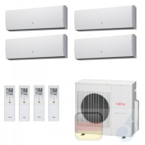 Fujitsu Klimaanlagen Quadri Split R-410A 7+7+9+15 Btu ASYG07LMCE +ASYG07LMCE +ASYG09LMCE +ASYG14LMCE AOYG30LAT4 07LM+07LM+09L...