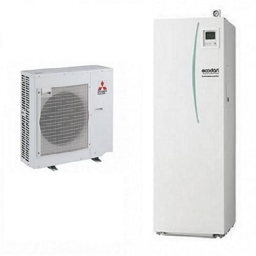 Wärmepumpe Mitsubishi Ecodan Luft-Wasser PUHZ-SW75VHA + ERST20C-VM2C 7.5 kW