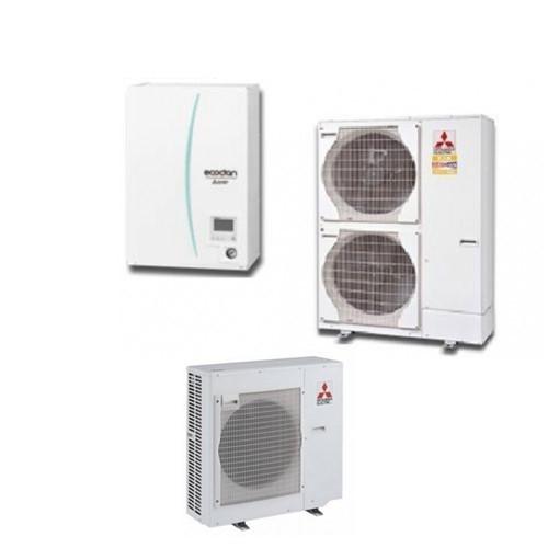 Mitsubishi Electric Wärmepumpe Ecodan Luft-Wasser PUHZ-SHW112VHA + EHSC-VM2C 11,2 kW