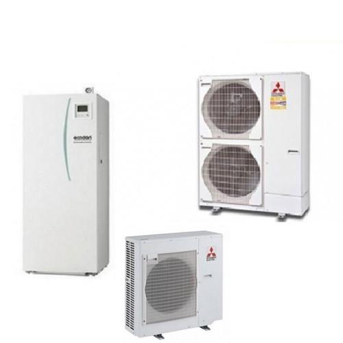 Wärmepumpe Mitsubishi Ecodan Luft-Wasser PUHZ-SHW112YHA + EHSC-VM2C 11,2 kW