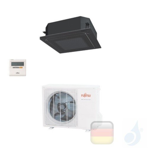 Fujitsu Gewerbeklimaanlagen Kassettengerät Serie LR Circular Flow Schwarz 18000 Btu AUXG18LRLB AOYG18LBCA 3NGF7900 R-410A 220...