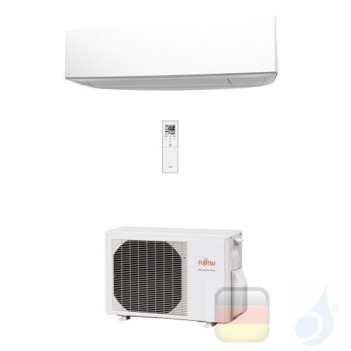 Fujitsu Mono Split 9000 Btu 2.5 kW ASYG09KETA AOYG09KETA Klimaanlage Weiß Wand KE WiFi Optional A++ A+ R-32 ASYG09KETA+AOYG09...