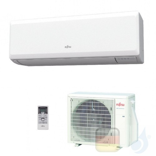 Fujitsu Mono Split 9000 Btu 2.5 kW ASYG09KPCA AOYG09KPCA Klimaanlage Weiß Wand KP WiFi Optional A++ A+ R-32 ASYG09KPCA+AOYG09...