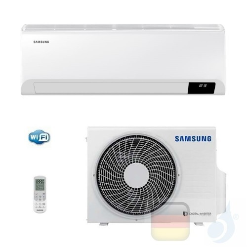Samsung Klimaanlagen Mono Split Wand Gas R-32 Cebu Wi-Fi SET F-AR24CBU 24000 Btu 7.1 kW Stimmenkontrolle WiFi A++ A AR24TXFYA...
