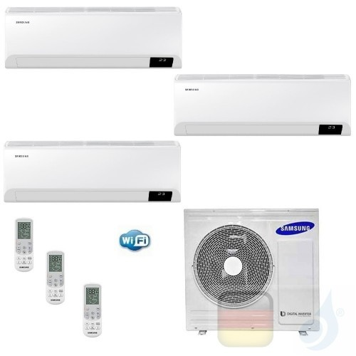 Samsung Klimaanlagen Trio Split Cebu Wi-Fi 9000+9000+12000 Btu + AJ052TXJ3KG/EU R-32 A+++ A+ Stimmenkontrolle WiFi AR090912TX...