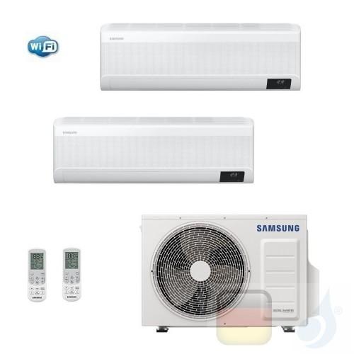 Samsung Klimaanlagen Duo Split WindFree ELITE 12000+12000 Btu + AJ068TXJ3KG/EU R-32 A++ A+ Stimmenkontrolle WiFi AR1212TXCAAW...